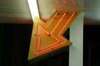 Arrow neon sign