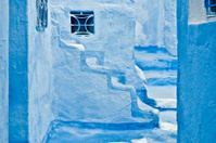 City streets of Chefchaouen, Morocco