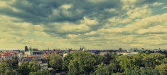 Panorama of Wrocław (Poland)