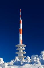 Antenna in Cold Winter Landscape