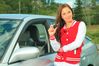 Teenager Driver - New Car