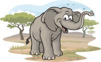 Elephant on the Savannah