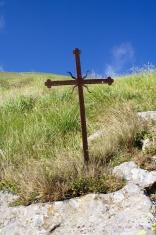 Old iron christian cross
