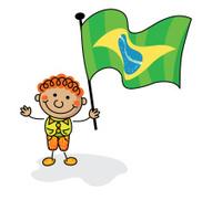Brazil Flag Kids