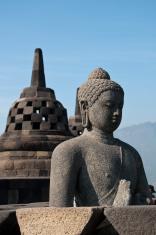 Borobudur Temple at sunrise.
