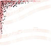 Music Notes Corner Design Element