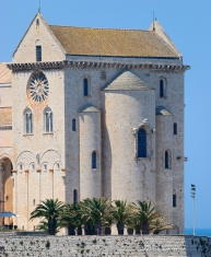 Picturesque view the Cathedral of Trani (BA)