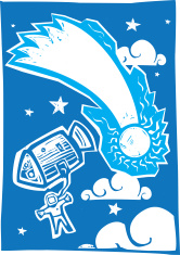 Astronaut and Comet