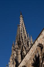 Spires of Santa Maria del Mar cathedral