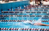 Swimmer in a sport pool