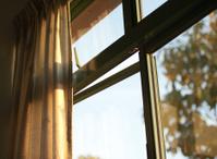 Orange Morning Light on Curtains