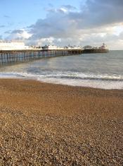 At dusk - Brighton pier