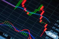 Market Analyze on lcd screen.