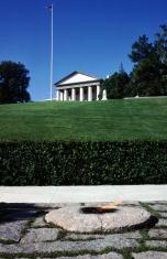 The eternal flame at Arlington Cemetery