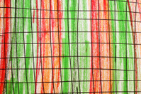 abstract line pattern, green and red