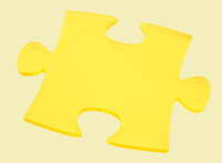 Transparent jigsaw Piece