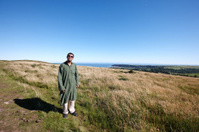 Mature indian man on Gower peninsula
