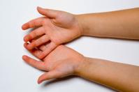 Pair of open hands