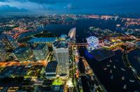 Yokohama bay in twilight