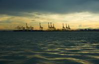 Sunrise in a harbor