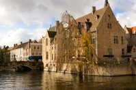classic sight of Bruges