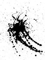 Detailed paint splat