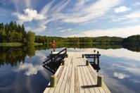 Lake in Åkulla, Sweden
