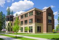 Building on college campus in Spokane, WA