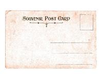 Vintage Souvenier Postcard Back with Copy Space