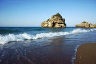 rock on beach at Zakynthos island