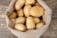 jute bag with potatoes