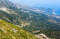 Summer coast view from Llogara pass (Albania)