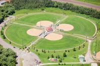 Aerial Cloverleaf Baseball Diamonds