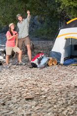 Camping Trip Checking GPS