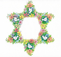 Floral Star of David