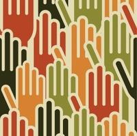 Diversity human hands pattern