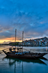Porto, Portugal at sunset