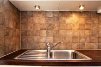 detail of a kitchen sink