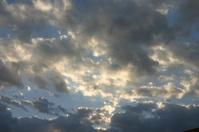 light in stormy sky