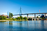 Koehlbrandbruecke, Hamburg, harbour bridge