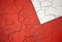 Red And White Asphalt Texture