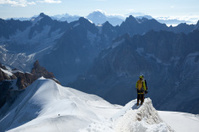 Alpine mountaineers at Mont Blanc
