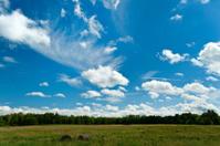 Summer Sky over a farm field