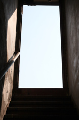 open door stairway