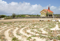 Aruba Peace Labyrinth, The Alto Vista Chapel in background