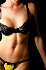 Muscular Woman Body in Underwear