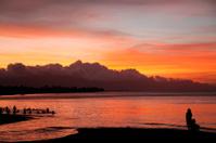Beach during sunset, Sanur,Bali,Indonesia