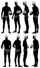 3bc1acbed ... Várias imagens de um jogador de pólo aquático de pé com bola ...