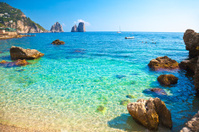 Beach on Capri Island