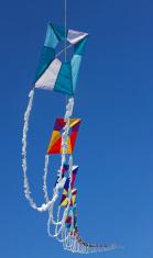Wave-train kites